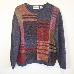 Vintage Alfred Dunner Multi-Color Sweater XL